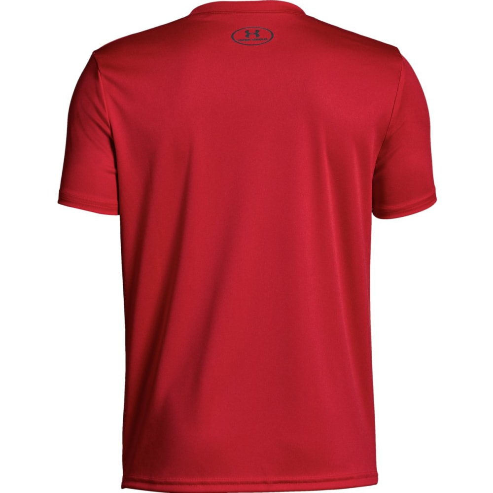 UNDER ARMOUR Big Boys' UA Tech Big Logo Solid Short-Sleeve Tee - RED/GRAPHITE-600