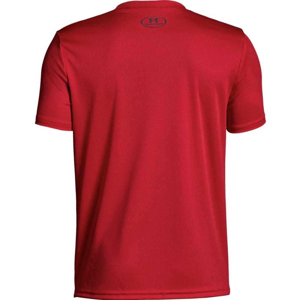UNDER ARMOUR Big Boys' UA Tech Big Logo Solid Short-Sleeve Tee - RED/GRAPHITE-600