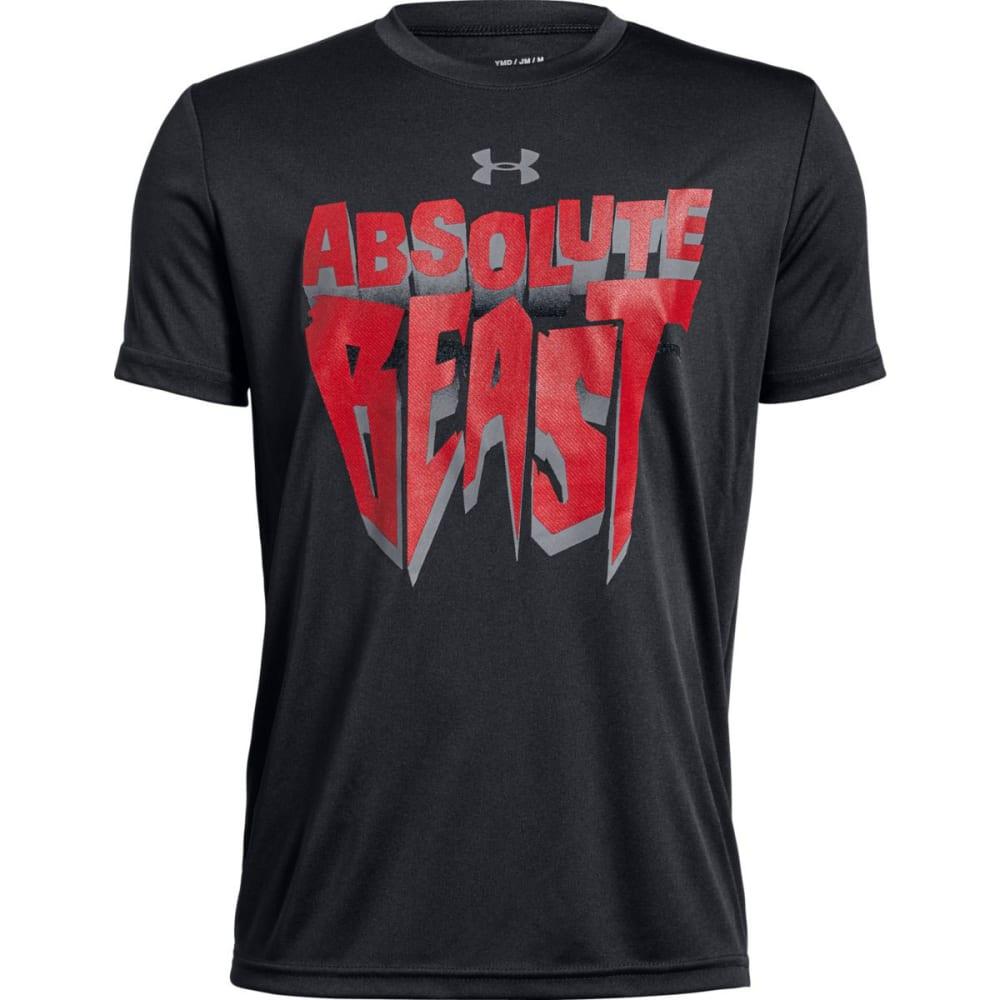 UNDER ARMOUR Big Boys' UA Absolute Beast Short-Sleeve Tee - BLACKSTEALTH GRY-001