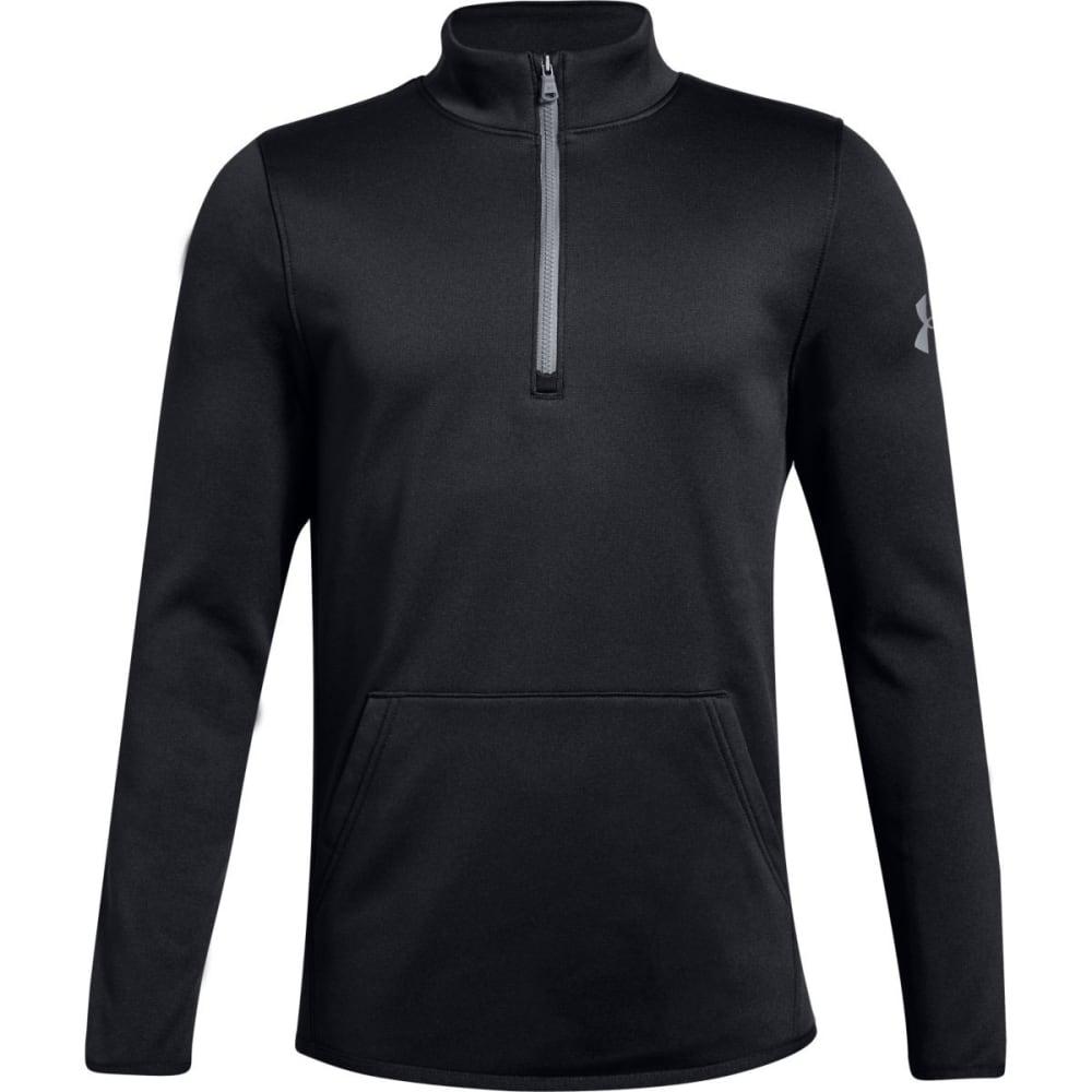 Under Armour Men's Armour Fleece Lightweight Quarter Zip Pullover - Black, M