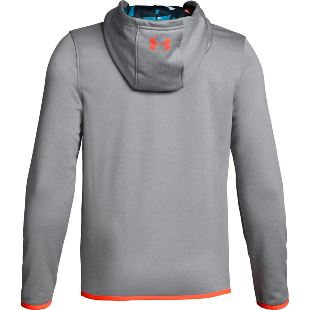 UNDER ARMOUR Big Boys' Armour Fleece Highlight Printed Pullover Hoodie - SLH/BLUE CIRCUIT-036
