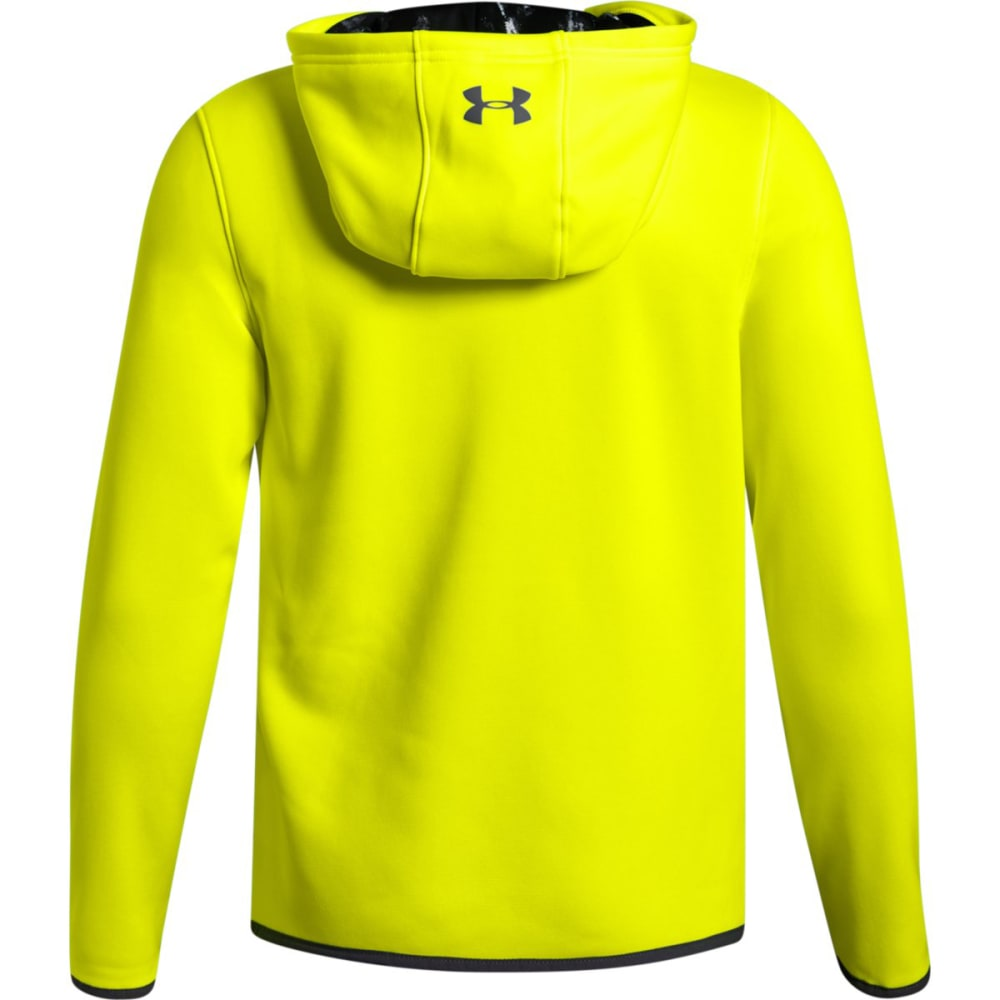UNDER ARMOUR Big Boys' Armour Fleece Highlight Printed Pullover Hoodie - HIGH VIS YELLOW-731