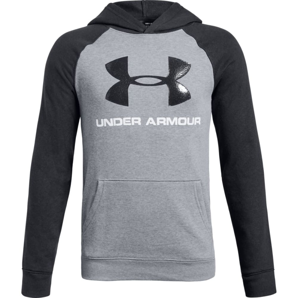 UNDER ARMOUR Big Boys' UA Rival Logo Pullover Hoodie - SLH/BLACK-035