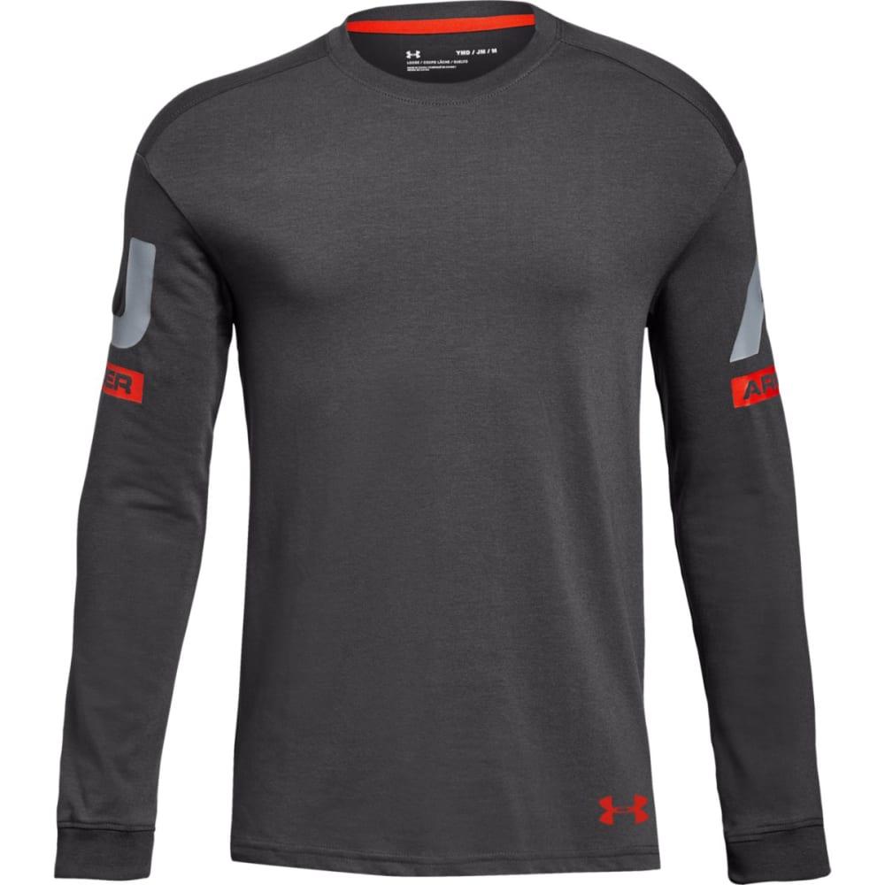 UNDER ARMOUR Big Boys' UA Sportstyle Crew Long-Sleeve Shirt S
