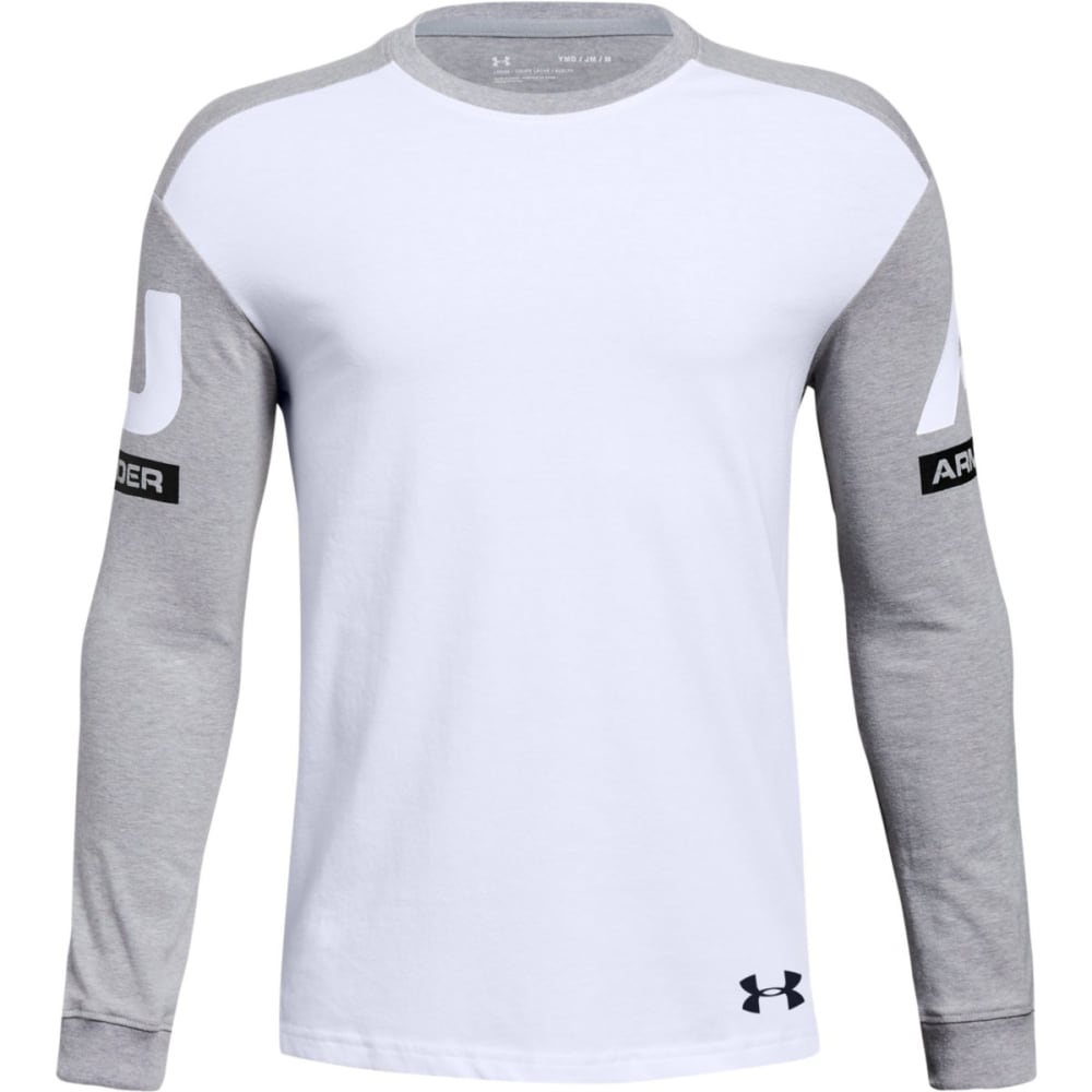 UNDER ARMOUR Big Boys' UA Sportstyle Crew Long-Sleeve Shirt M