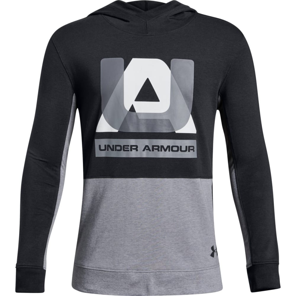 UNDER ARMOUR Big Boys' UA Sportstyle Pullover Hoodie - BLACK-001