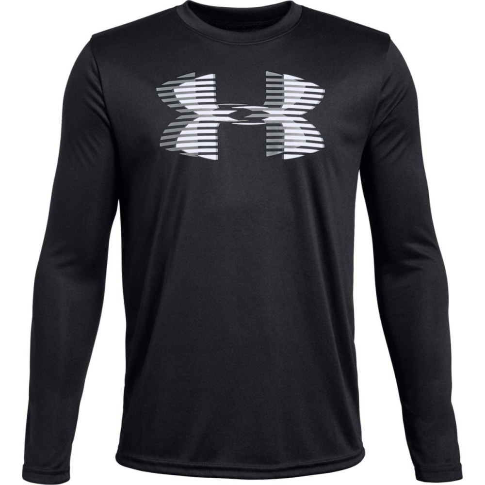 UNDER ARMOUR Big Boys' UA Tech™ Big Logo Long-Sleeve Tee - BLACK/WHITE-001