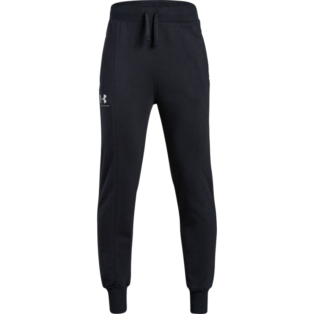 UNDER ARMOUR Big Boys' UA Rival Blocked Jogger Pants - BLACK/STEEL-001