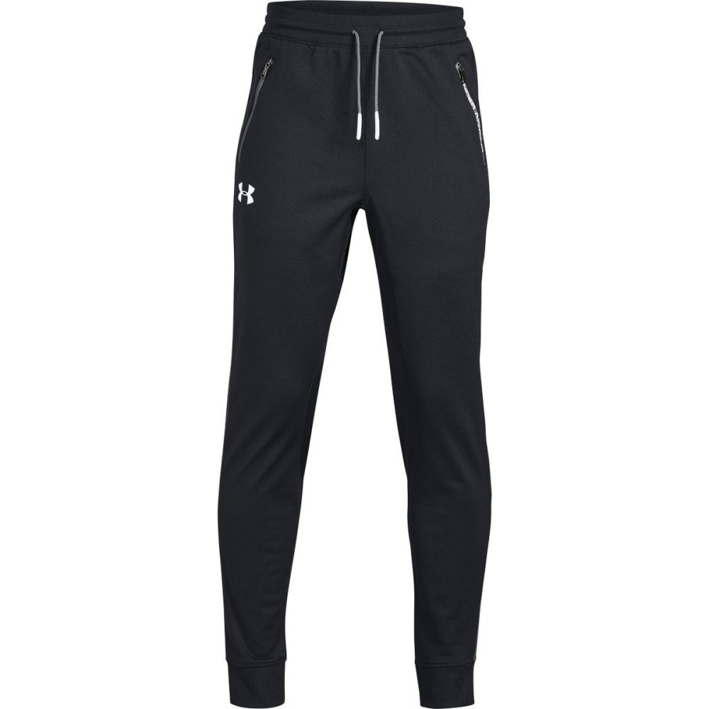 UNDER ARMOUR Big Boys' UA Pennant Tapered Pants - BLACK/WHITE-001