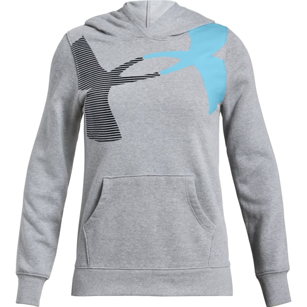 UNDER ARMOUR Big Girls' UA Rival Fleece Pullover Hoodie - SLH/BLUE-035