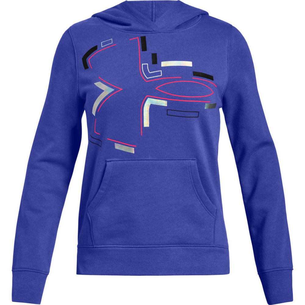 Under Armour Big Girls' Ua Rival Fleece Pullover Hoodie - Purple, S
