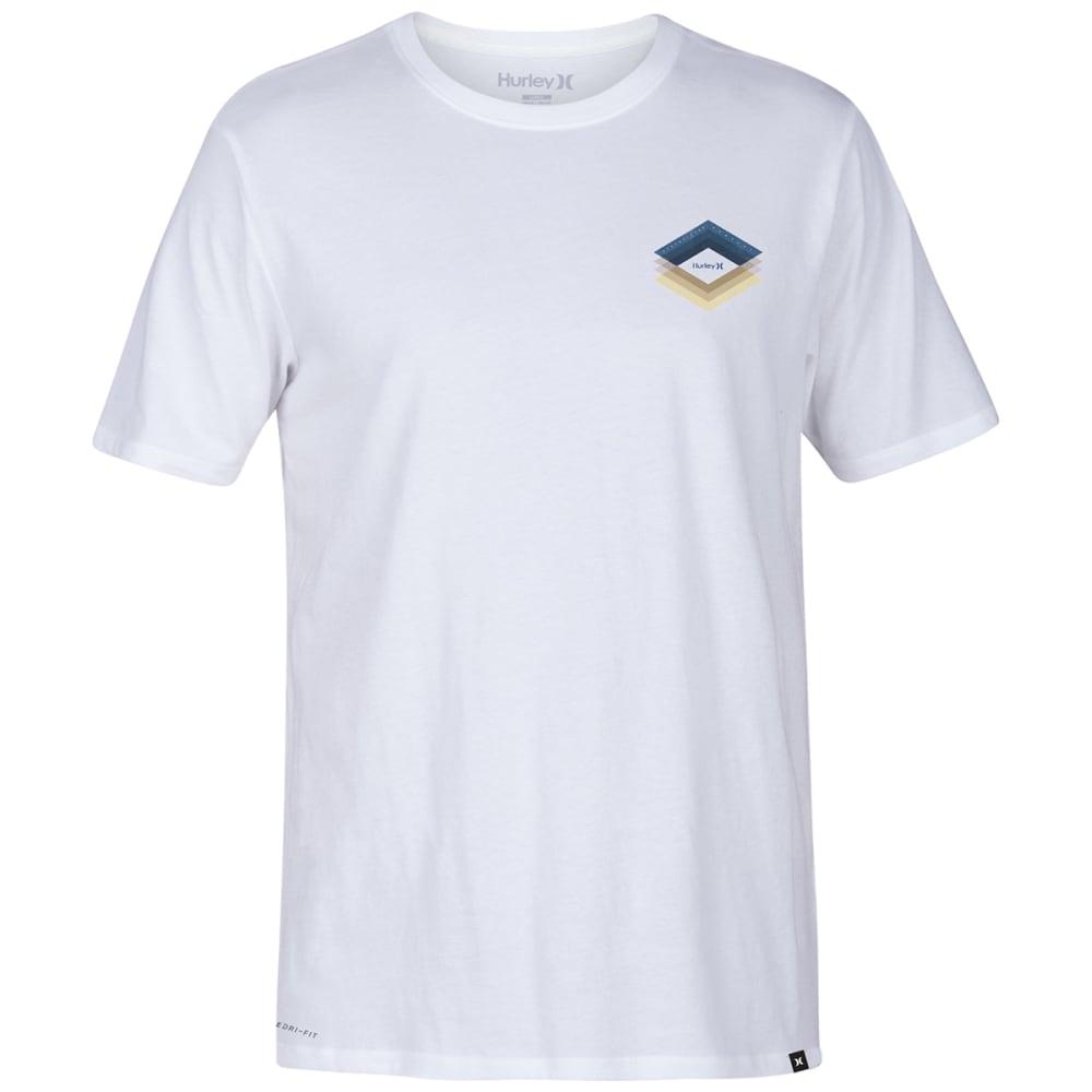 HURLEY Guys' Dri-FIT Frail Short-Sleeve Tee - WHITE-100