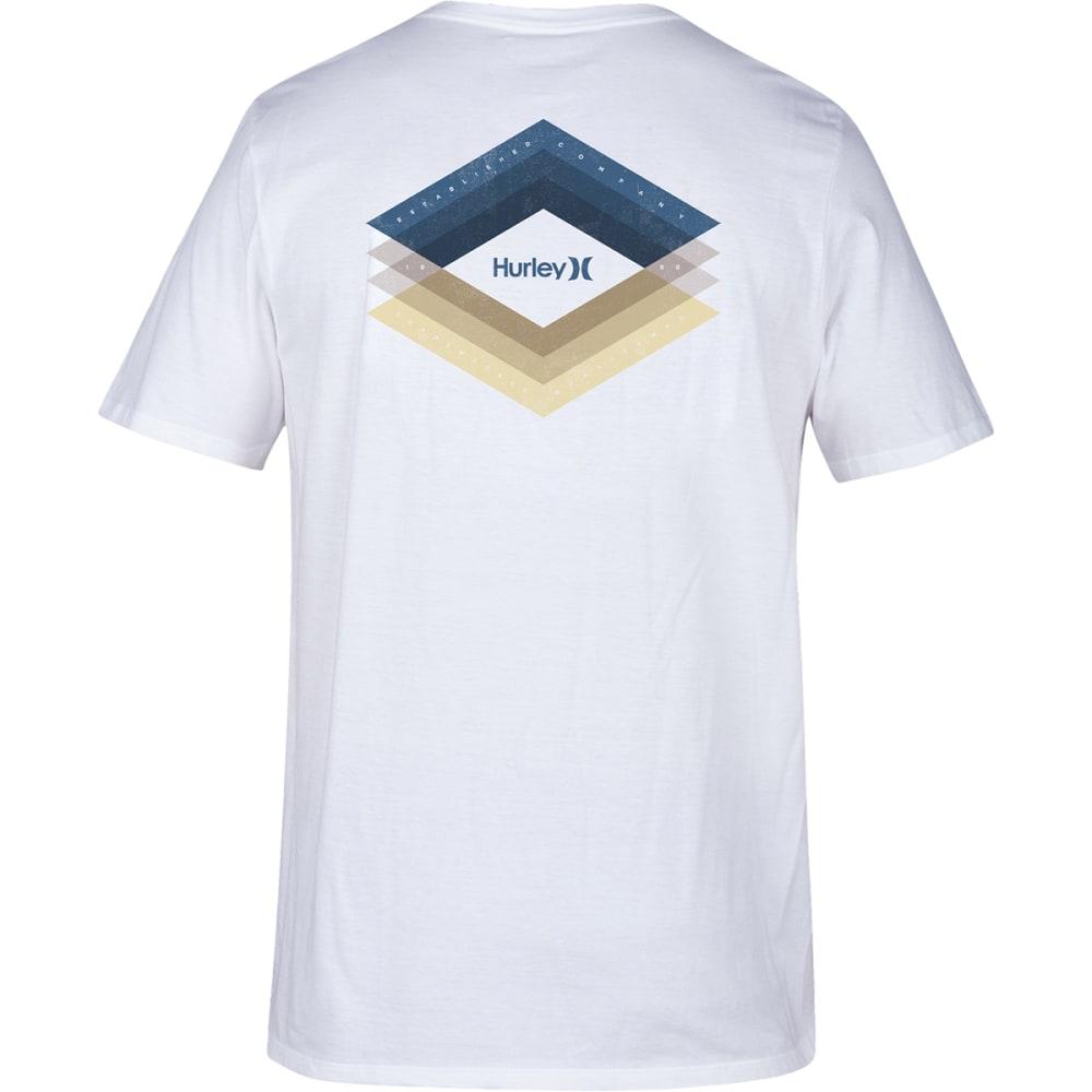 Hurley Guys' Dri-Fit Frail Short-Sleeve Tee - White, S