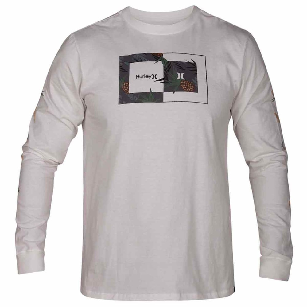 Hurley Guys' Core Sweet Days Long-Sleeve Tee - White, S