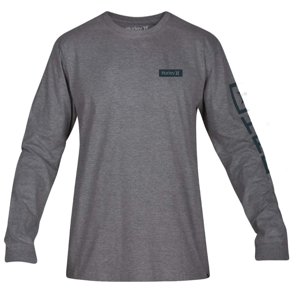 HURLEY Guys' Core Arm Long-Sleeve Tee - DARK GREY HTR-063