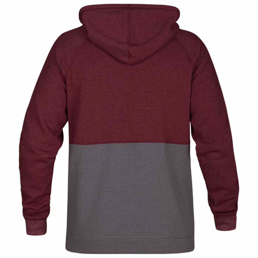 HURLEY Guys' Crone Blocked Pullover Hoodie - TEAM RED HTR-608