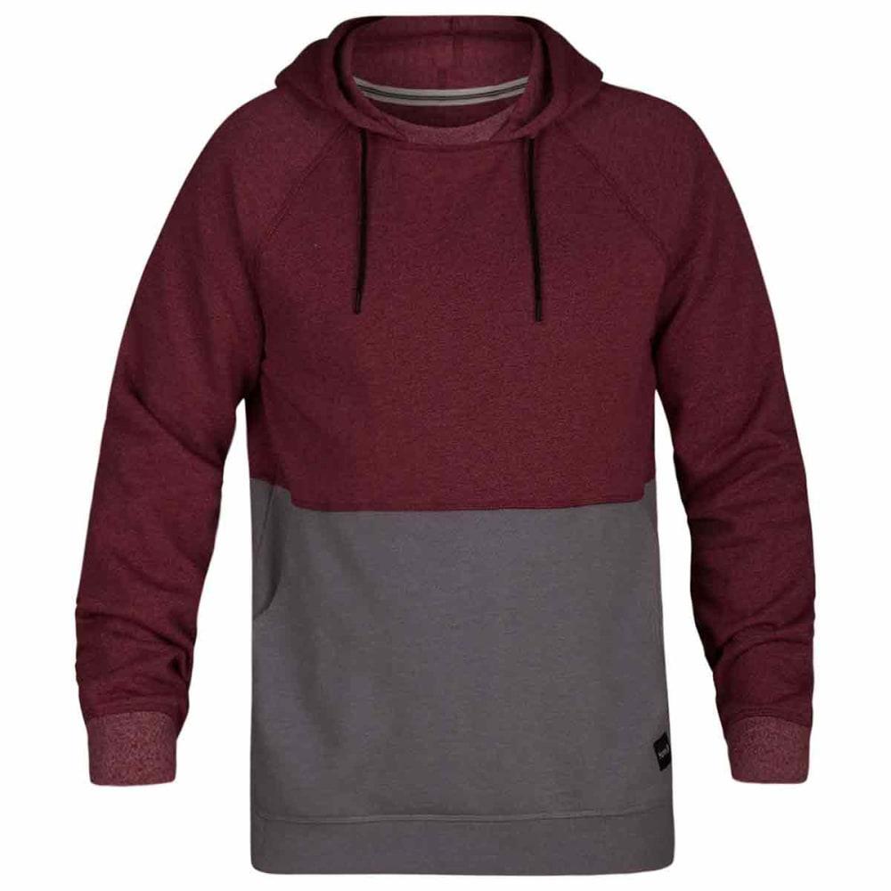 Hurley Guys' Crone Blocked Pullover Hoodie - Red, S