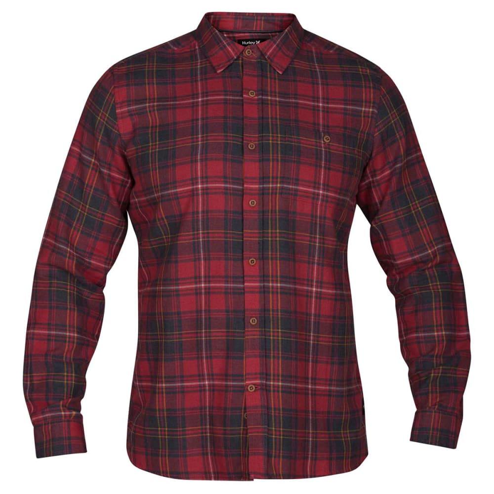 Hurley Guys' Kurt Long-Sleeve Shirt - Red, S