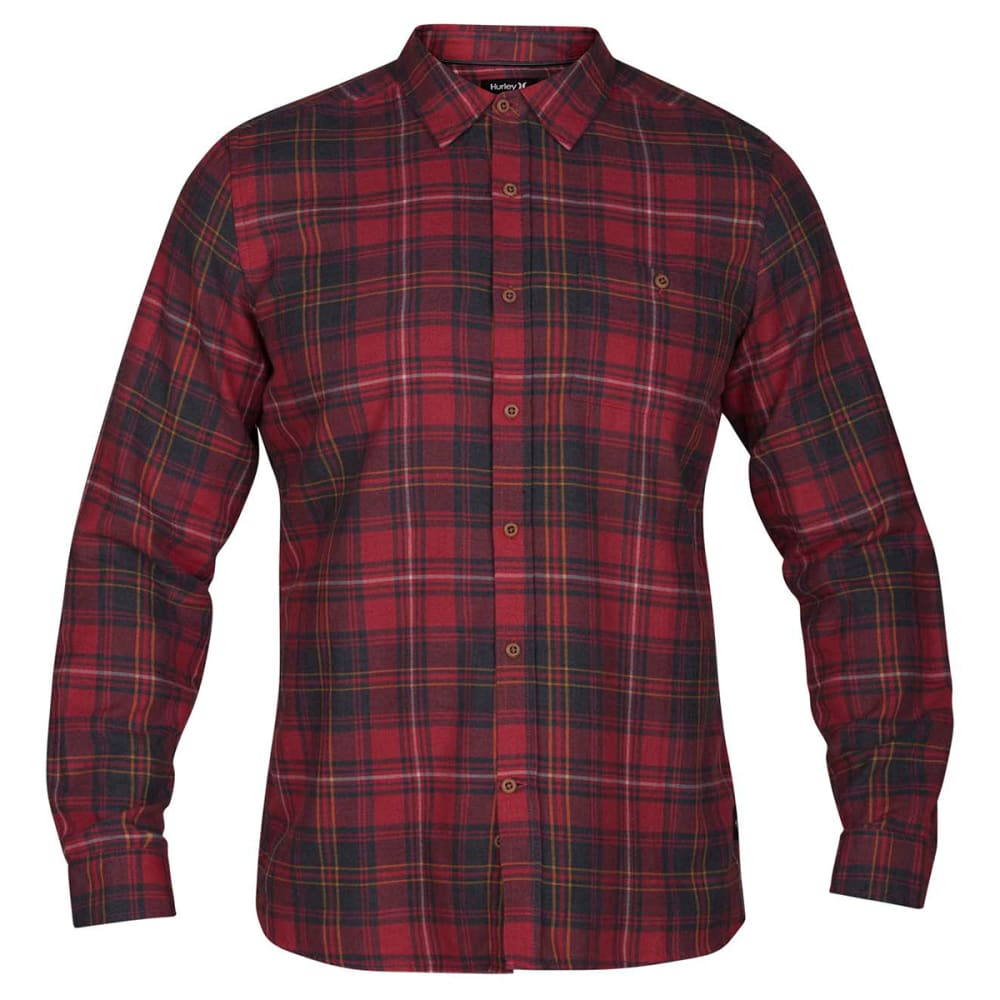 HURLEY Guys' Kurt Long-Sleeve Shirt - GYM RED-687