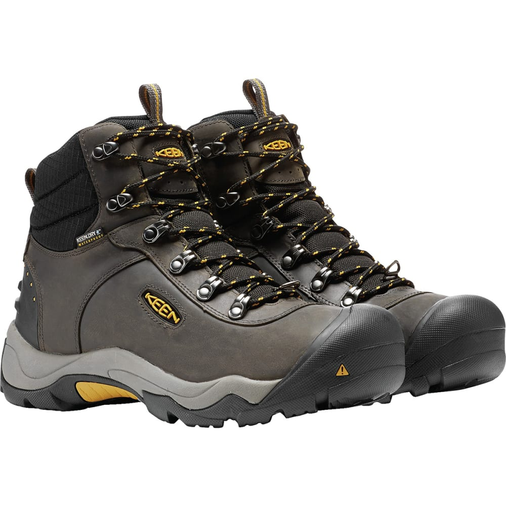 KEEN Men's Revel III Waterproof Insulated Mid Hiking Boots - MAGNET/TAWNY OLIVE