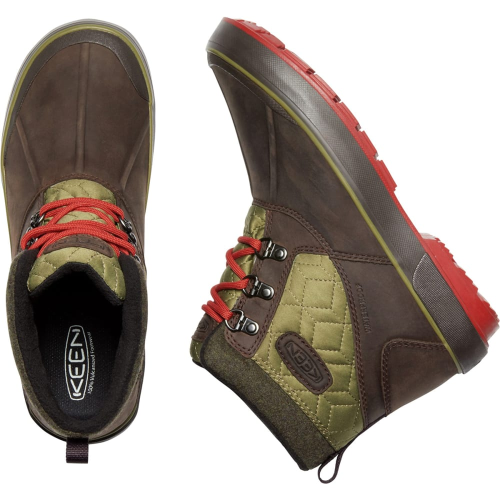 KEEN Women's Elsa II Quilted Waterproof Insulated Ankle Boots - MULCH/MARTINI OLIVE