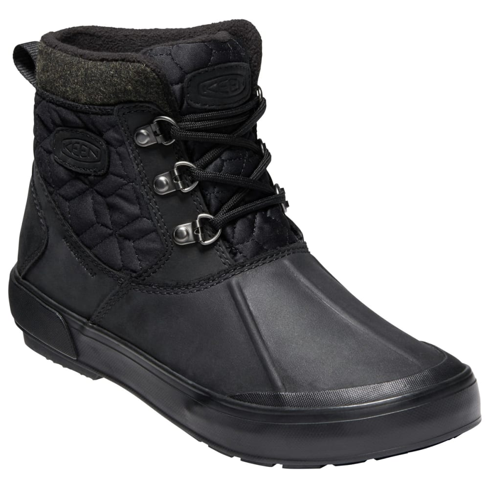 Keen Women's Elsa Ii Quilted Waterproof Insulated Ankle Boots - Black, 7