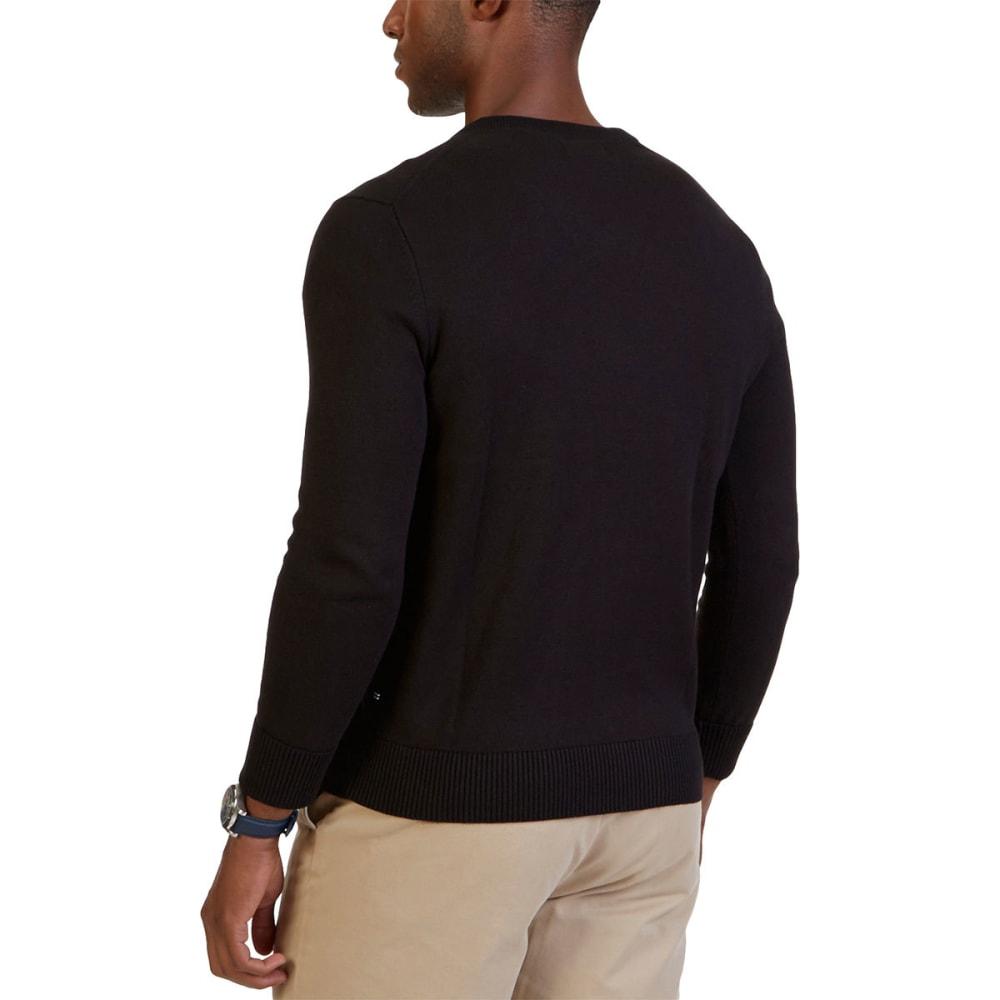 NAUTICA Men's Classic V-Neck Long-Sleeve Sweater - BLACK