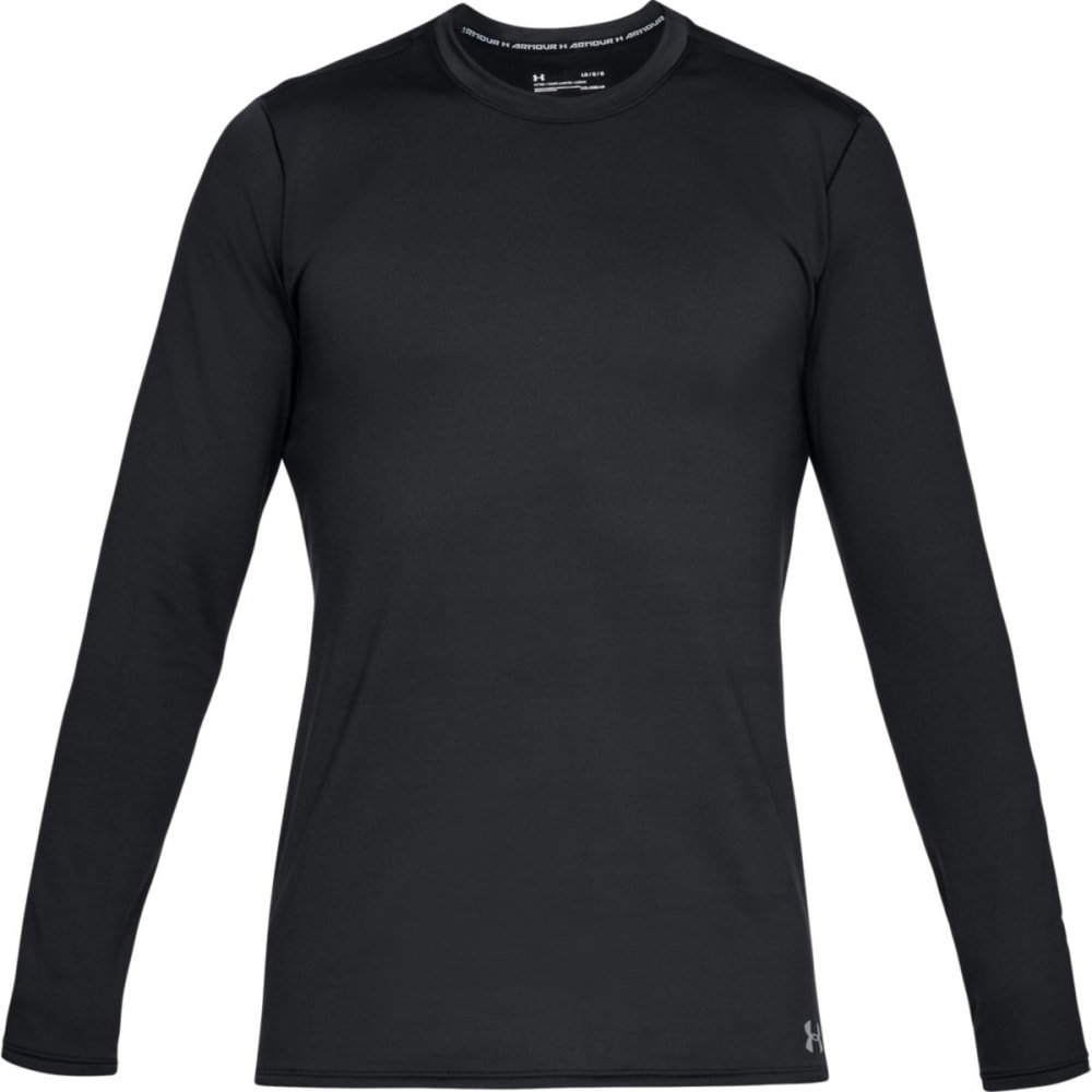 UNDER ARMOUR Men's ColdGear® Fitted Crew Long-Sleeve Shirt - BLACK-001