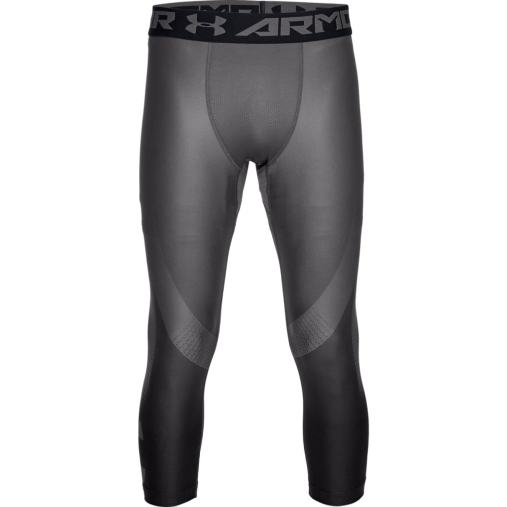 UNDER ARMOUR Men's HeatGear Armour 2.0 ¾-Length Leggings - CHARCOAL-020