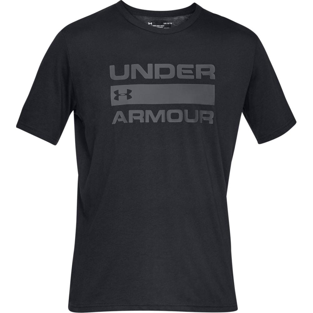 UNDER ARMOUR Men's UA Team Issue Wordmark Short-Sleeve Tee - BLACK-001