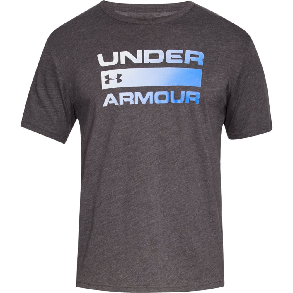 UNDER ARMOUR Men's UA Team Issue Wordmark Short-Sleeve Tee - CHARCOAL-019