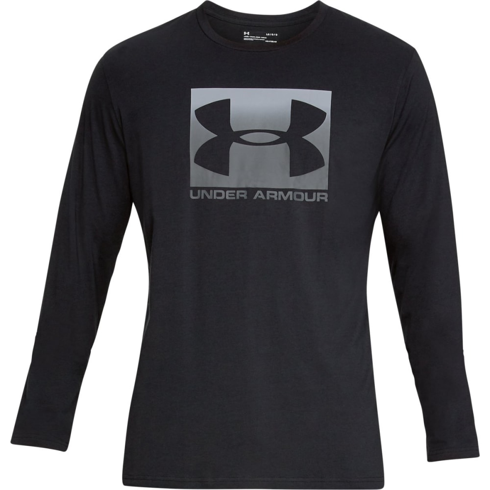UNDER ARMOUR Men's UA Sportstyle Boxed Graphic Long-Sleeve Tee - BLACK-001