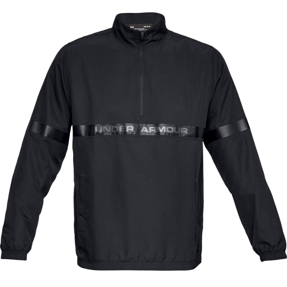 UNDER ARMOUR Men's UA Sportstyle Woven Half Zip Pullover - BLACK-001