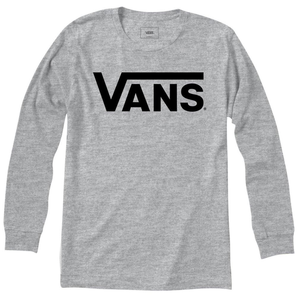 VANS Guys' Classic Long-Sleeve Tee - ASH HEATHER/BLK-RP5
