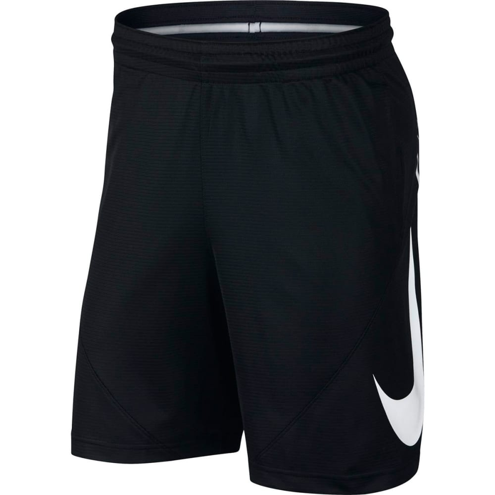 NIKE Men's HBR Basketball Shorts - BLACK/WHITE-010