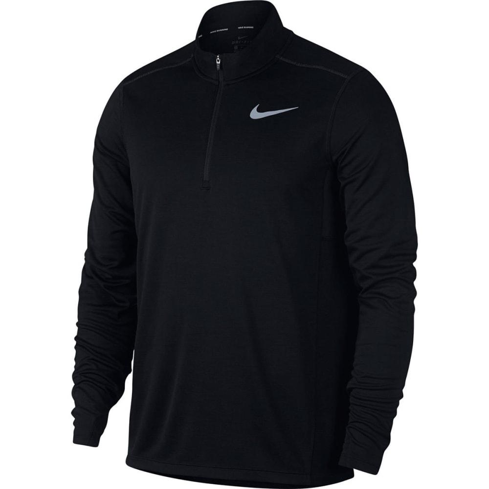 NIKE Men's Pacer 1/2-Zip Long-Sleeve Running Top - BLACK-010