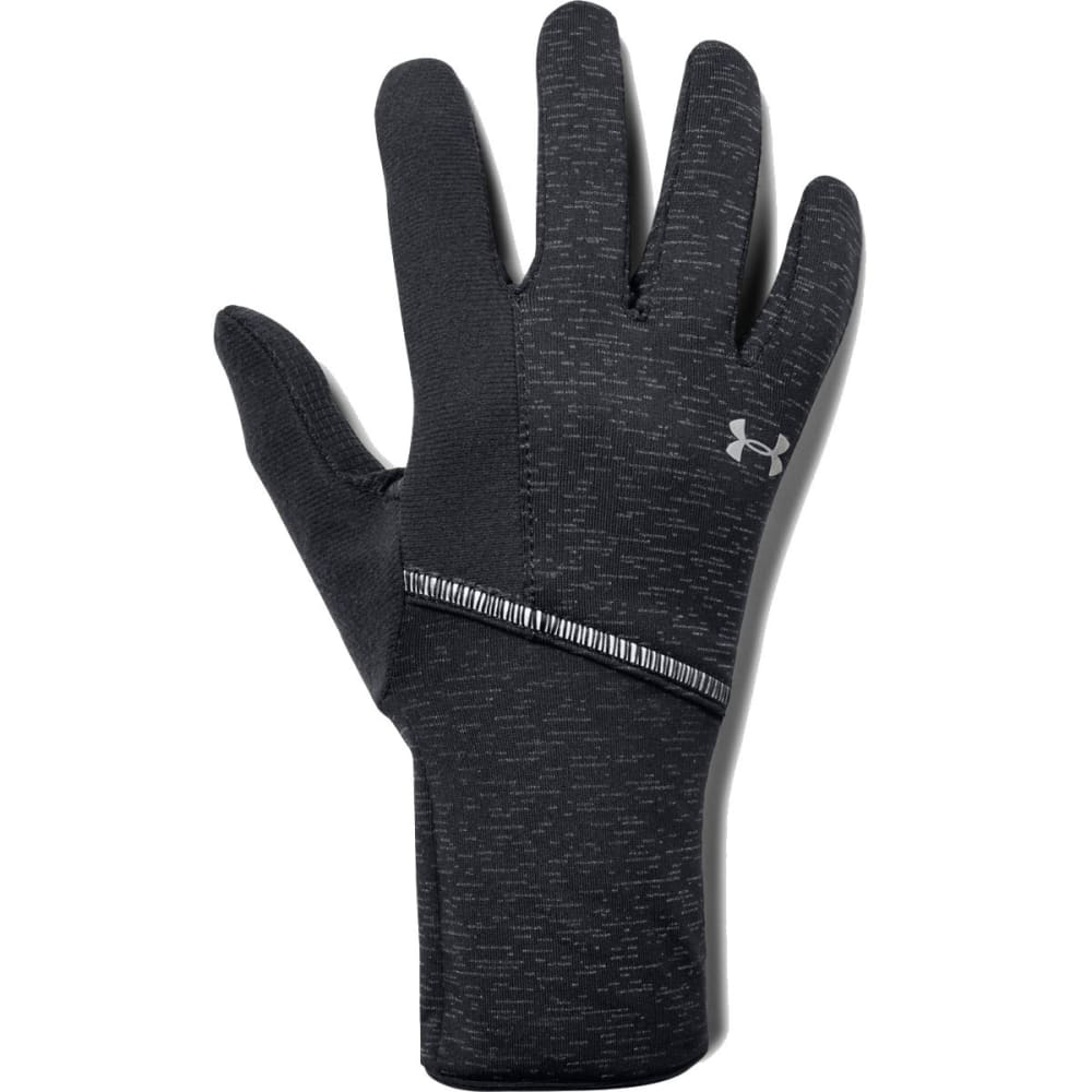 UNDER ARMOUR Women's UA Storm Run Liner Gloves - 001-BLACK/SILVER