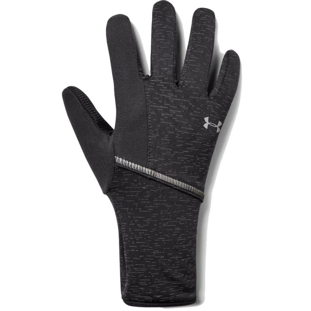 UNDER ARMOUR Women's UA Storm Run Liner Gloves - 019-CHARCOAL/SILVER