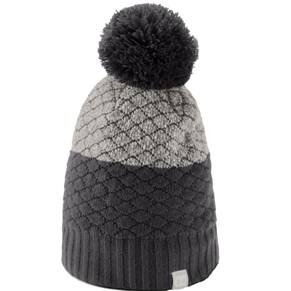 7fca38c3588501 UNDER ARMOUR Women's UA Quilted Beanie - 019-CHARCOAL/GHOST