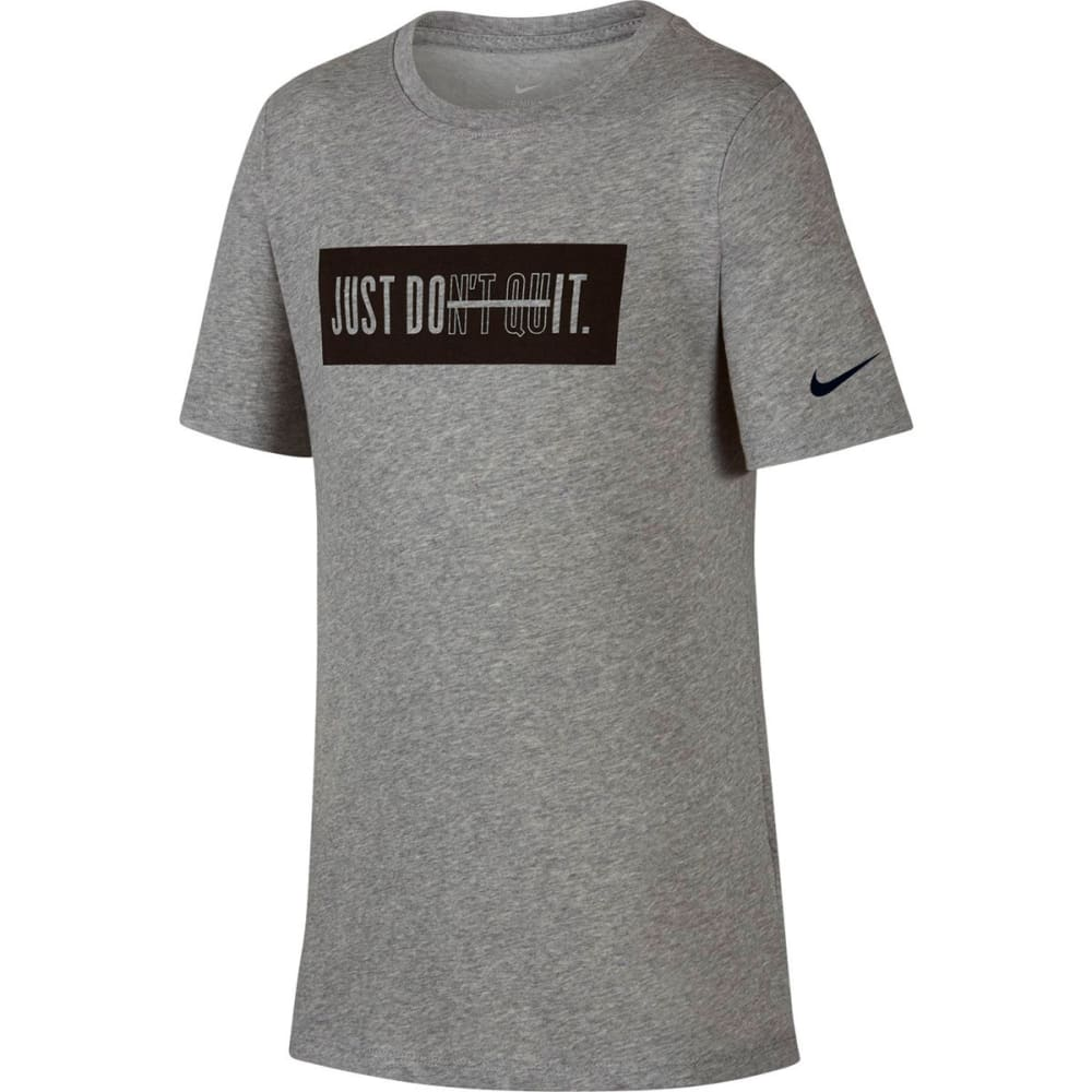 NIKE Big Boys' Dry Just Don't Quit Training Short-Sleeve Tee XS