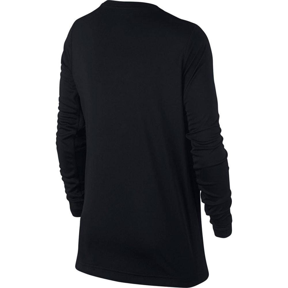 NIKE Big Boys' Legacy Long-Sleeve Shirt - BLK/BCRIMSON-010