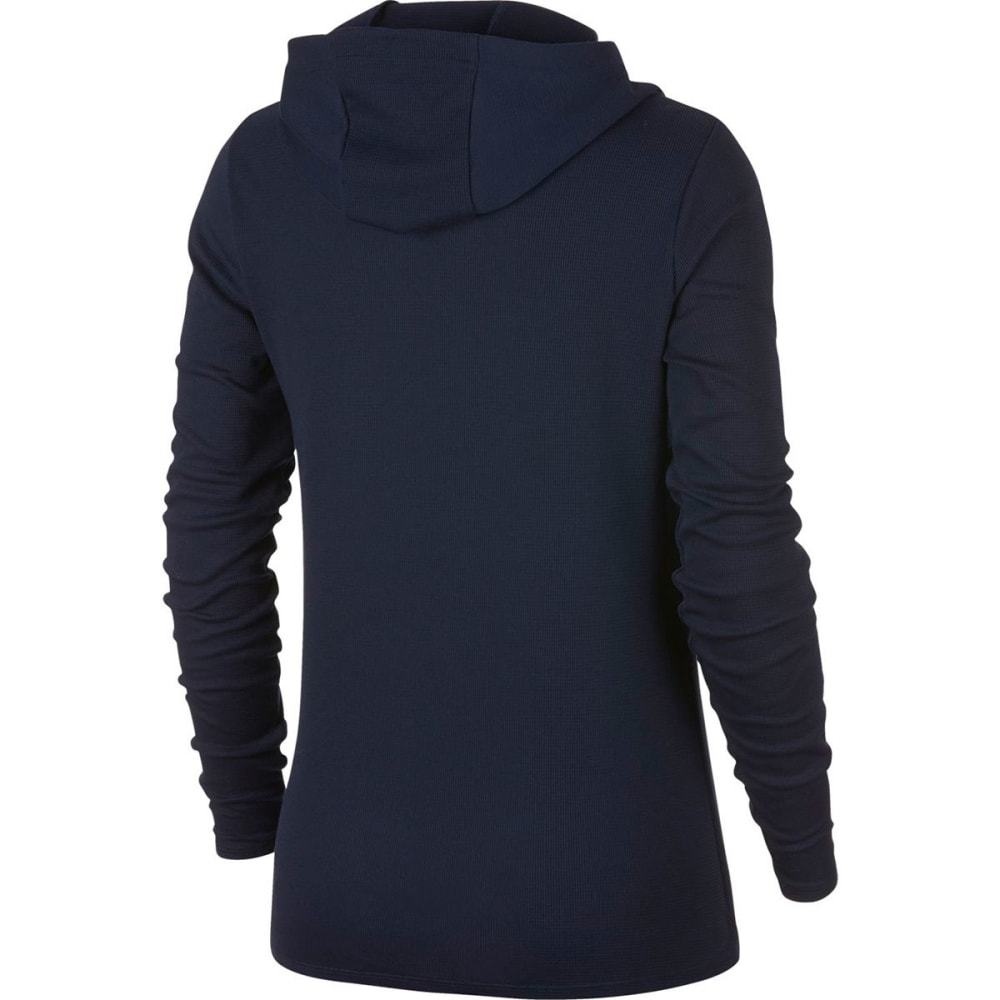 NIKE Women's Dry Victory Training Pullover Hoodie - OBSIDIAN/WHT-451