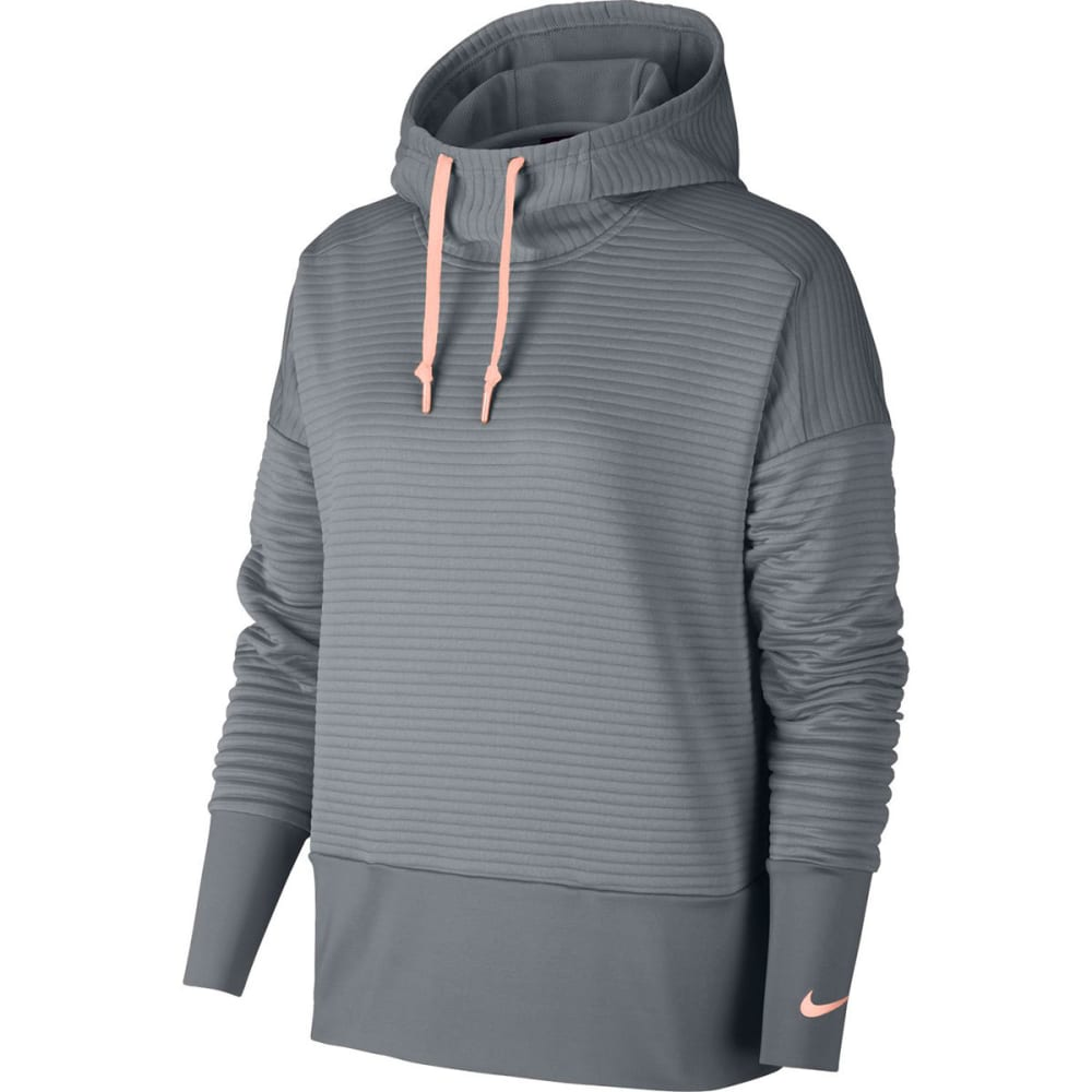 NIKE Women's Double Dry GRX Pullover Hoodie - COOLGRY/STORMPNK-065