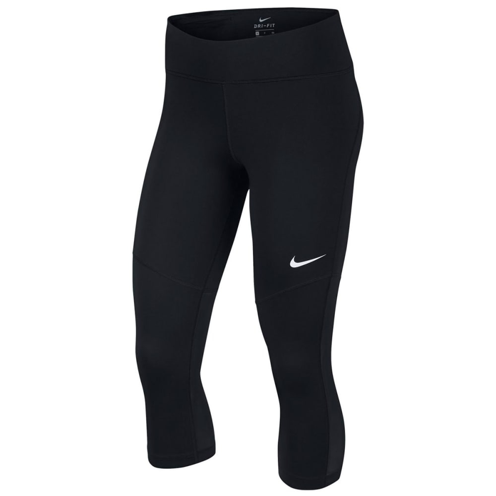 NIKE Women's Fly Victory Capri Pants - BLACK/WHITE-010