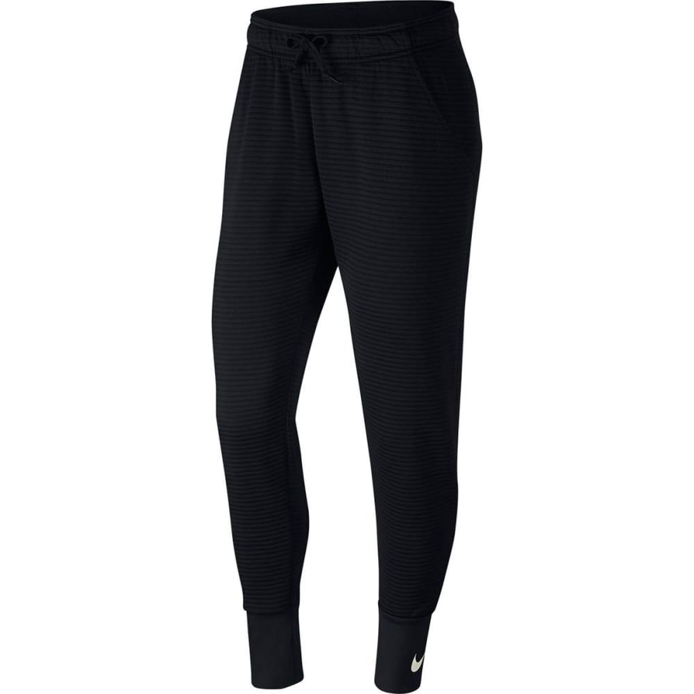 NIKE Women's Tapered Double Dry Pants - BLACK/DESRTSAND-010