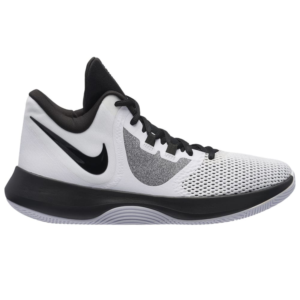 NIKE Men's Air Precision II Basketball Shoes - WHITE-100