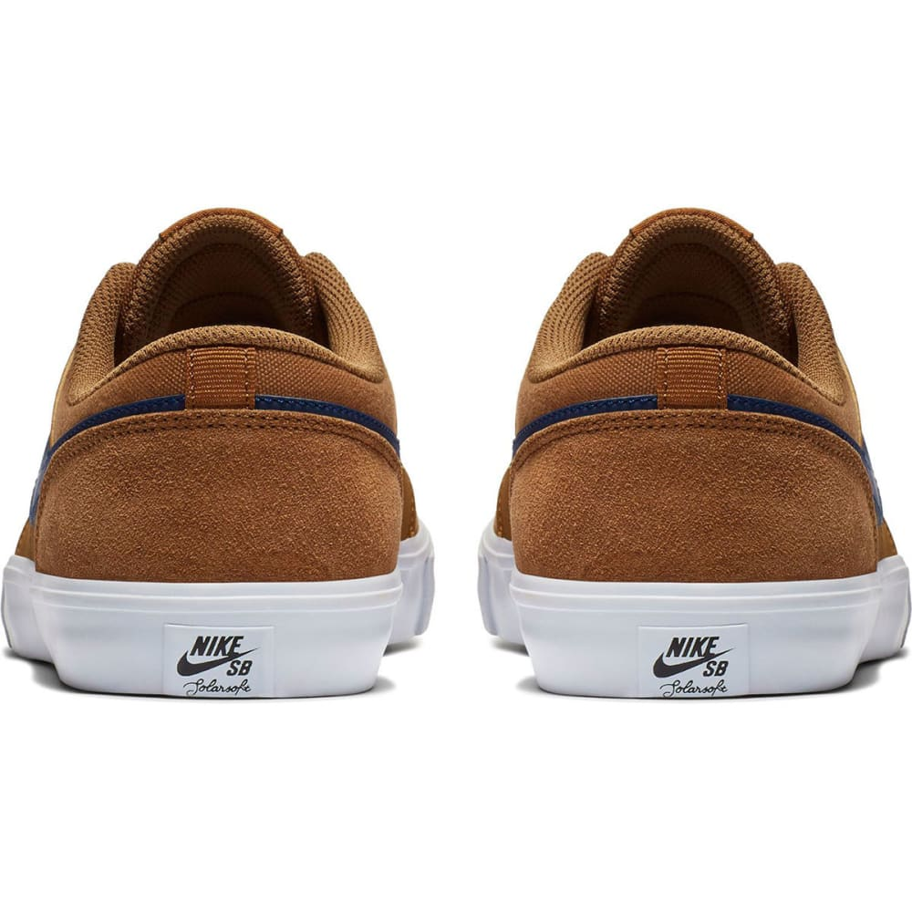 NIKE SB Men's Solarsoft Portmore II Skateboarding Shoes - BRITISH TAN-202