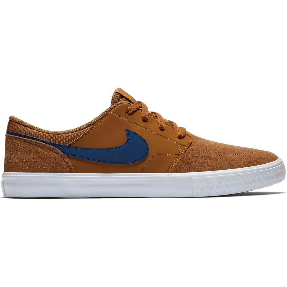 NIKE SB Men's Solarsoft Portmore II Skateboarding Shoes - BRITISH TAN-202