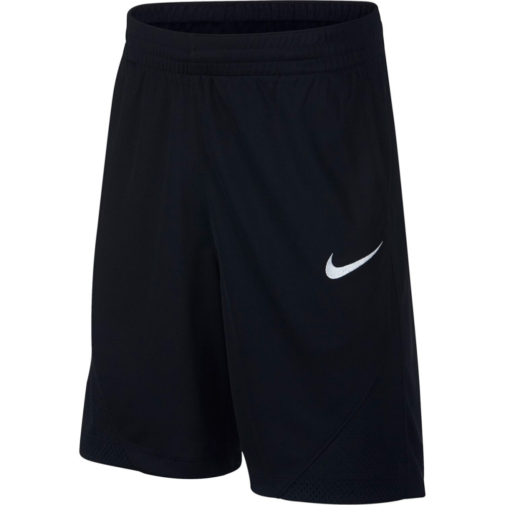 NIKE Big Boys' Assist Shorts - BLACK/WHITE-010