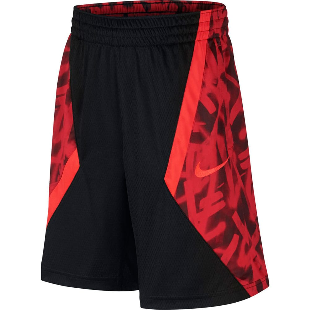 NIKE Big Boys' Avalanche AOP Basketball Shorts S